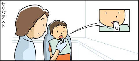 標準的な歯科医療のご案内アニメ サリバテスト